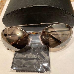 Prada oval mirror wire rimed sunglasses